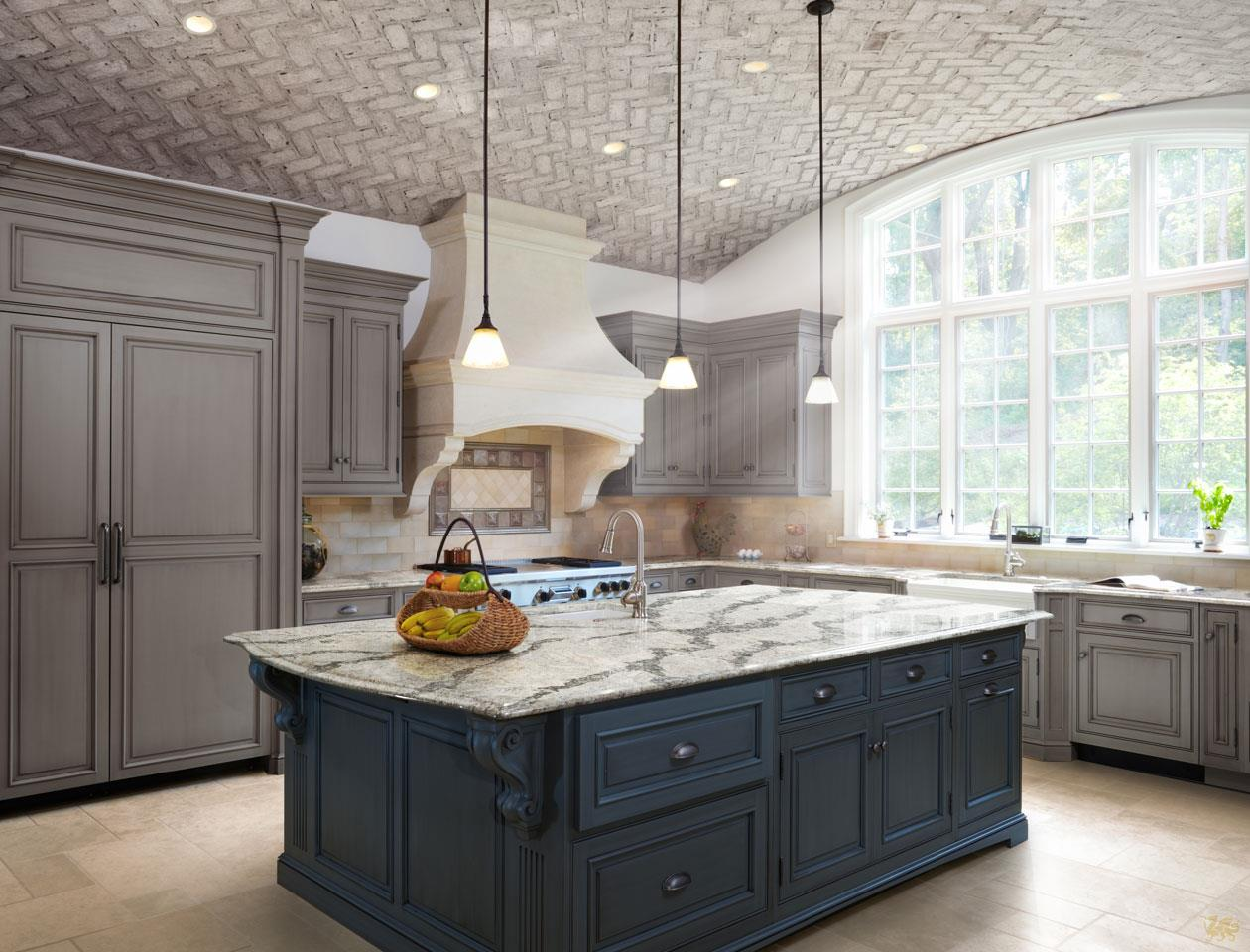 Open arched kitchen