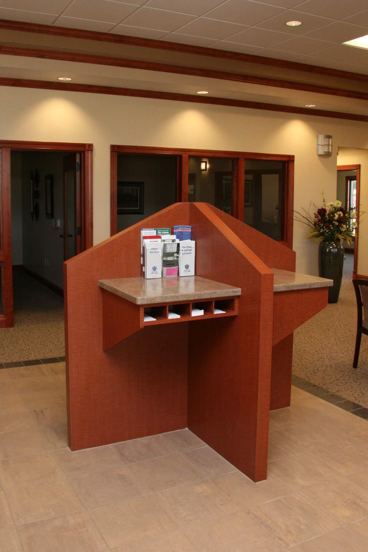 Design bank reception area
