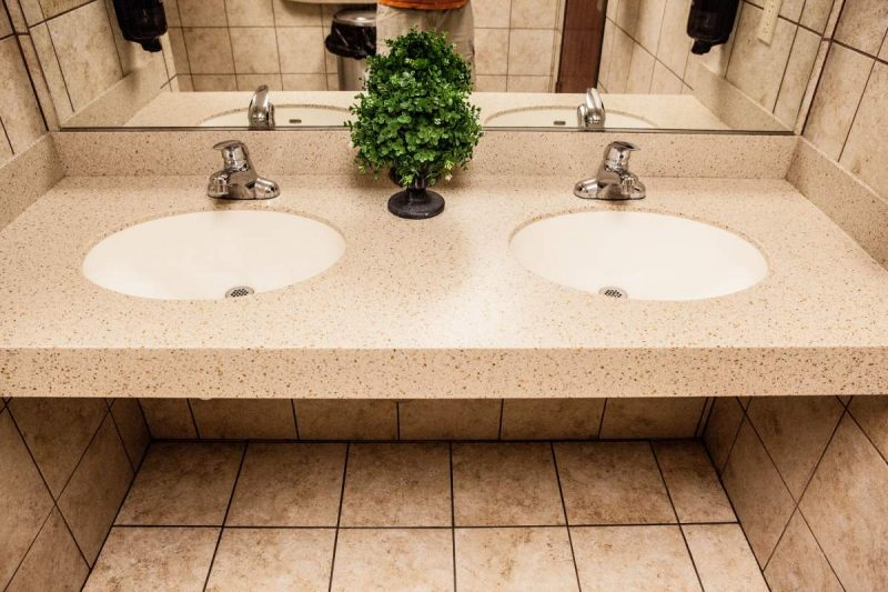 Renovate gas station bathroom